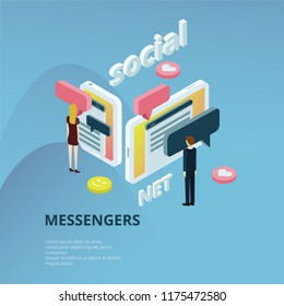 Messengers And Social Nertwork Concept
