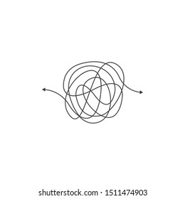 Messy line, complicated, abstract. Vector logo icon template