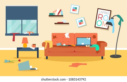 Messy Living Room Stock Illustrations Images Vectors Shutterstock