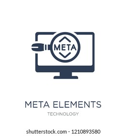 Meta Elements icon. Trendy flat vector Meta Elements icon on white background from Technology collection, vector illustration can be use for web and mobile, eps10