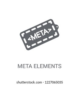 Meta Elements icon. Trendy Meta Elements logo concept on white background from Technology collection. Suitable for use on web apps, mobile apps and print media.