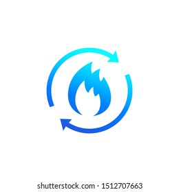 Metabolism, metabolic process icon on white