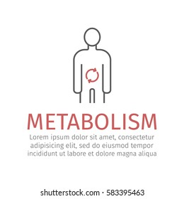 Metabolism. Vector icon for web graphic.
