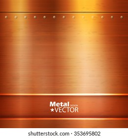 Metal Abstract Background. Copper. Vector illustration