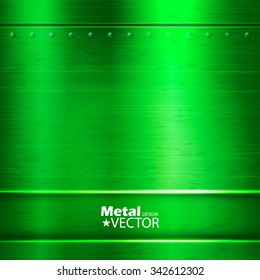 Metal Abstract Background. Green Design. Vector illustration