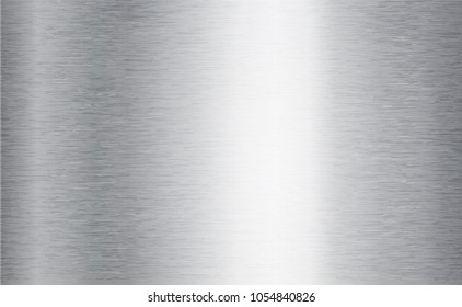 Metal abstract technology background. Aluminum with polished, brushed texture, chrome, silver, steel, for design concepts, web, prints posters wallpapers interfaces Vector illustration