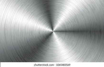 Metal abstract technology background. Aluminum with  with realistic circular brushed texturetexture, chrome, silver, steel, for design concepts, web, prints posters wallpapers interfaces Vector illust