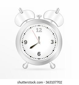 Metal alarm clock.Vector