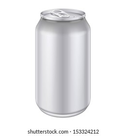Metal Aluminum Beverage Drink Can 500ml. Ready For Your Design. Product Packing Vector EPS10