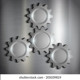 metal background with gears