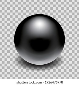 Metal Ball realistic vector isolated on transparent background