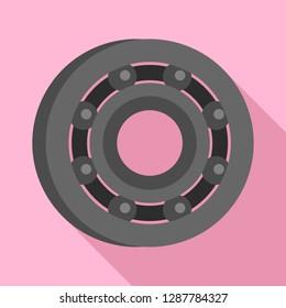 Metal bearing icon. Flat illustration of metal bearing vector icon for web design