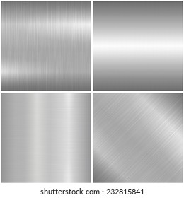 Metal brushed texture. 4 Vector backgrounds - eps10