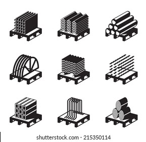 Metal building materials - vector illustration