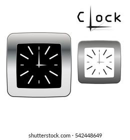 Metal clock vector