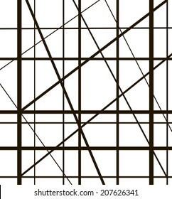 Metal construction lattice on white background.
