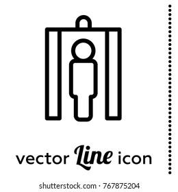 metal detector gate vector icon