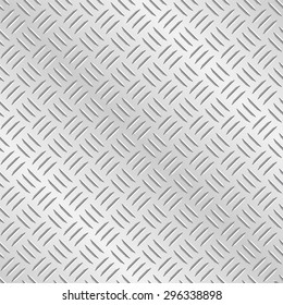 Metal diamond chequer plate. Tileable vector wallpaper background that repeats left, right, up and down