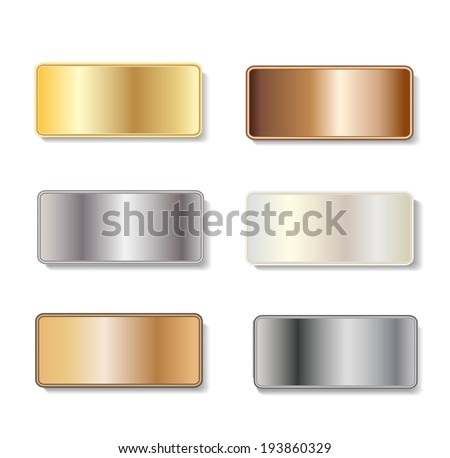 1ab5c76554f Metal Door Plaques Gold Silver Brass Stock Vector (Royalty Free ...