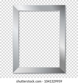 Metal frame, isolated.