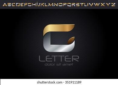 Metal G Letter Logo, alphabet logo design.