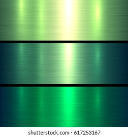 Metal green texture background, brushed metallic texture plate.