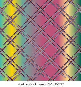 Metal grid pattern for design colorfull backdrop.