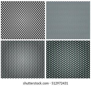 Metal Grip Textures Vector Set of 4