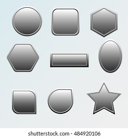 Metal icons and buttons for web