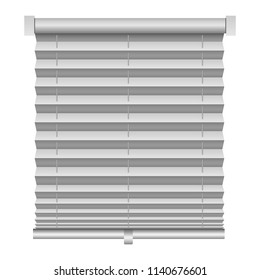 Metal louver mockup. Realistic illustration of metal louver vector mockup for web design isolated on white background