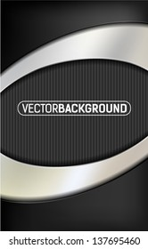 metal oval background