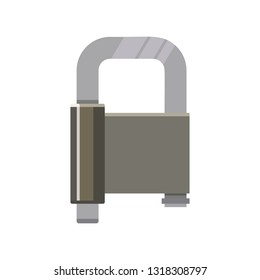 Metal padlock for safety. Safe, secure, private. Can be used for topics like access, safeguard, protection