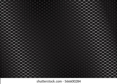 Metal perforated background. Vector 3d illustration