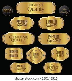 Metal plates premium quality golden collection
