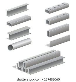 Metal profile and tubes