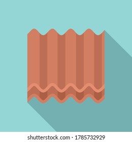 Metal roof icon. Flat illustration of metal roof vector icon for web design