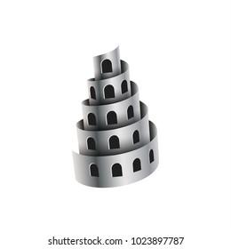 Metal shavings look like a tower with windows.