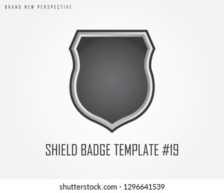 Metal Shield Badge Template Best Selection Shape