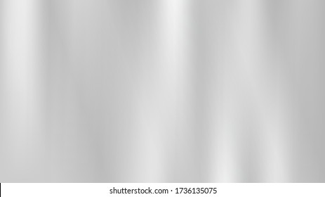 Metal silver abstract background, vector illustration. Mirror texture. Luxury style. Elegant decoration gray surface. Abstract white and gray background chrome or aluminium texture. Mirror surface