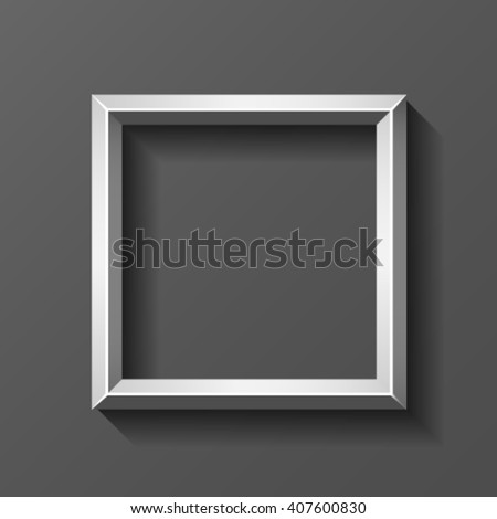 02ce72c8f96 Royalty-free stock vector images ID  407600830. Metal square frame with  bevel