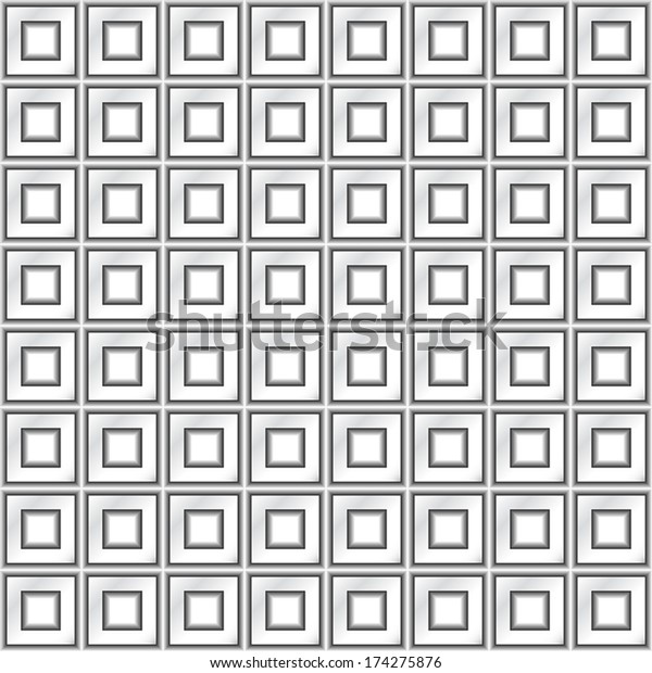 Metal Squares Seamless Texture Stock Vector (Royalty Free) 174275876