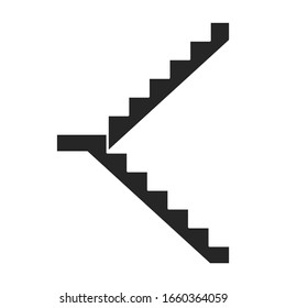 Metal staircase vector icon.Black vector icon isolated on white background metal staircase.