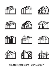 Metal structures in perspective - vector illustration