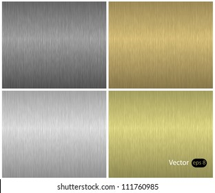 Metal textures set, vector