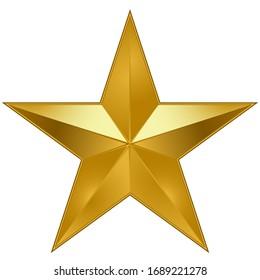 Metall-Star-Symbol auf weißem Hintergrund