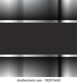 metallic background and black texture