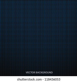 Metallic background with square pattern (black and blue colors). Grid texture. Vector illustration