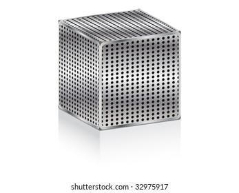 metallic box icon vector illustration