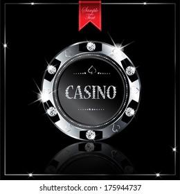 Metallic casino chip