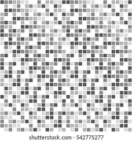 metallic checker image, gray scale tile - Geometric seamless pattern